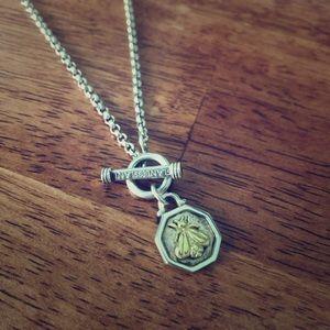 "SLANE Bee Pendant Necklace. 16"". 18k and 925"